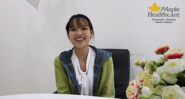 Trị liệu thần kinh cột sống thay đổi cuộc đời cô gái 27 tuổi