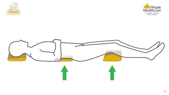 tư thế nằm ngửa chuẩn phòng tránh đau lưng