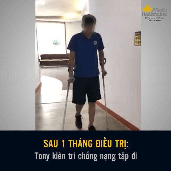 Bệnh nhân Tony điều trị biến chứng thoát vị đĩa đệm